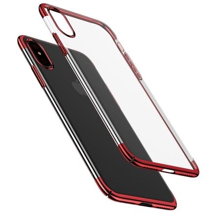 Glitter Case průsvitné pouzdro iPhone X červené