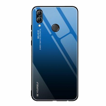 Gradient Glass pouzdro s vrstvou z tvrzeného skla Huawei P Smart 2019 černo-modré
