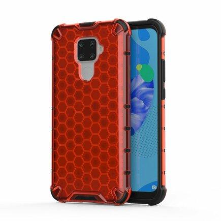 Honeycomb pancéřové pouzdro s gelovým rámem Huawei Mate 30 Lite / Huawei Nova 5i Pro červené