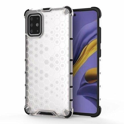 Honeycomb pancéřové pouzdro s gelovým rámem Samsung Galaxy S20 průsvitné
