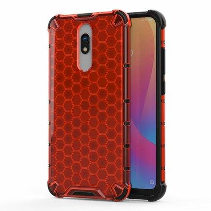 Honeycomb pancéřové pouzdro s gelovým rámem Xiaomi Redmi 8A / Xiaomi Redmi 8 červené