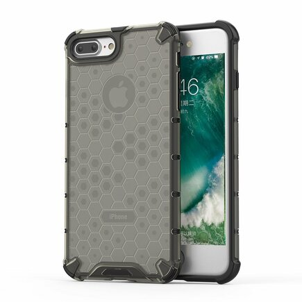 Honeycomb pancéřové pouzdro s gelovým rámem iPhone 8 Plus / iPhone 7 Plus černé