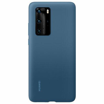 Huawei Silicone Case elastické silikonové pouzdro Huawei P40 Pro modré (51993799)
