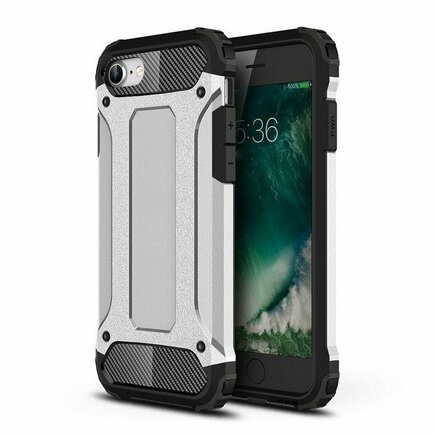 Hybrid Armor pancéřové hybridní pouzdro iPhone SE 2020 / iPhone 8 / iPhone 7 stříbrné