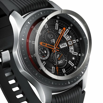 Inner Bezel Styling pouzdro pro Samsung Galaxy Watch 46mm / Gear S3 stříbrné (RGSG0057)