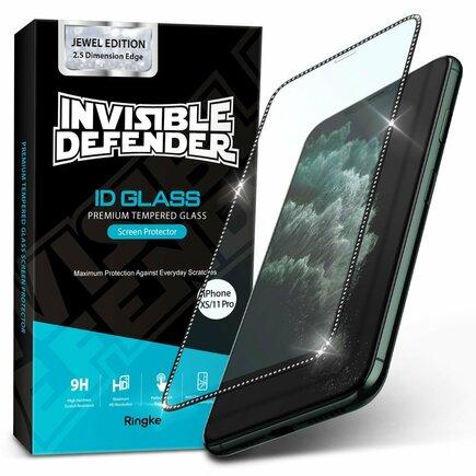 Invisible Defender 3x ochranná fólie na celý displej a boky telefonu TPU iPhone 11 Pro / iPhone XS / iPhone X - case friendly (GLAP0005)