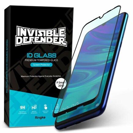 Invisible Defender ID Glass tvrzené sklo 0.33mm 9H s rámem Huawei P Smart 2019 černé (IGHW0004-RPKG)