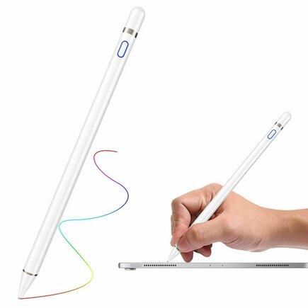 Kapacitní stylus pen pro iPad s tenkou koncovkou 1;5 mm bílý
