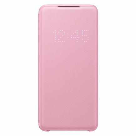 LED View Cover pouzdro s LED displejem Samsung Galaxy S20 růžové (EF-NG980PPEGEU)