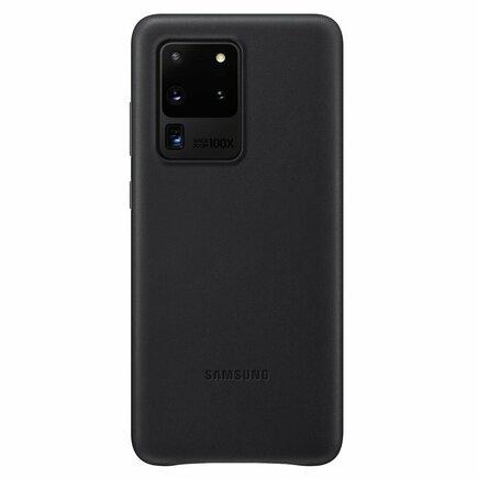 Leather Cover kožené pouzdro Samsung Galaxy S20 Ultra černé