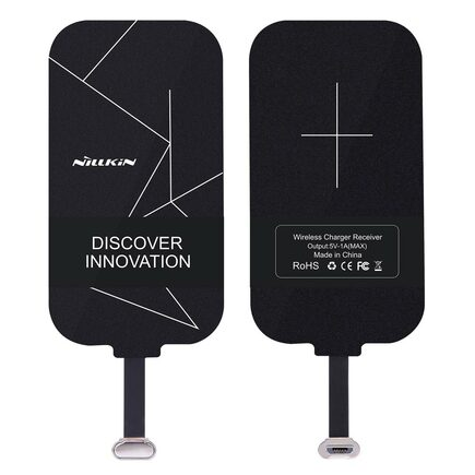 Magic Tags QI indukční vložka s konektorem micro USB černá