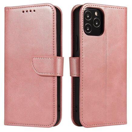 Magnet Case elegantní pouzdro s klapkou a funkcí podstavce Huawei Y6p růžové