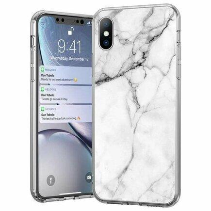 Marble gelové pouzdro mramorované Huawei P40 Lite / Nova 7i / Nova 6 SE bílé