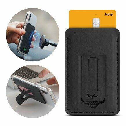 Multi Card Holder vícefunkční pouzdro na karty doklady/stojan černý (ACFC0024)