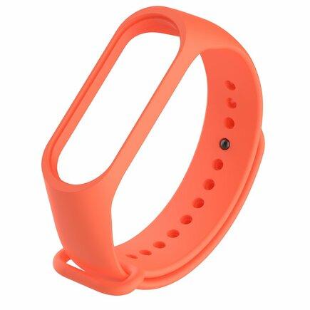 Náhradní silikonový pásek pro Xiaomi Mi Band 4 / Mi Band 3 oranžový