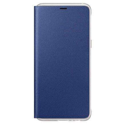 Neon Flip Cover pouzdro s neonovým rámem Samsung Galaxy A8 2018 A530 modré