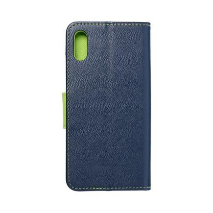 Pouzdro Fancy Book Huawei Y6 2019 tmavě modré/limetkové