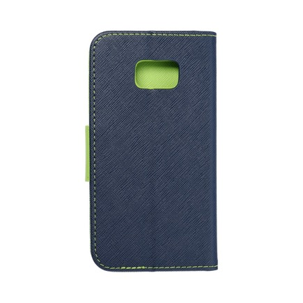 Pouzdro Fancy Book Samsung Galaxy S7 (G930) tmavě modré/limetkové