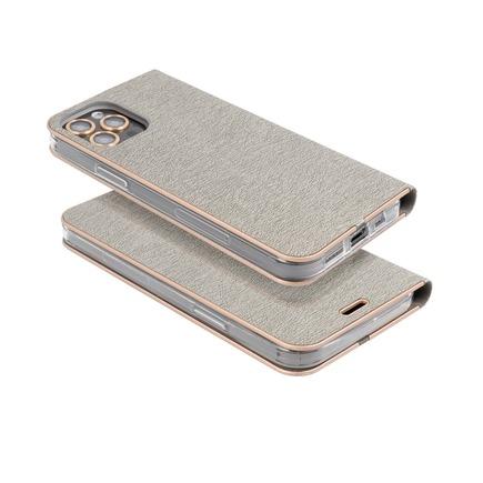 Pouzdro Forcell Luna Book Gold iPhone 13 Pro Max stříbrné