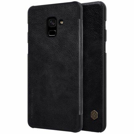 Qin kožené pouzdro Samsung Galaxy A8 2018 A530 černé