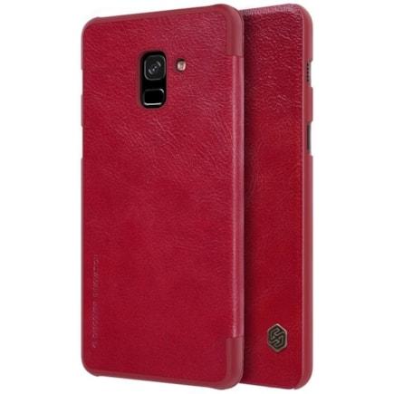 Qin kožené pouzdro Samsung Galaxy A8 2018 A530 červené
