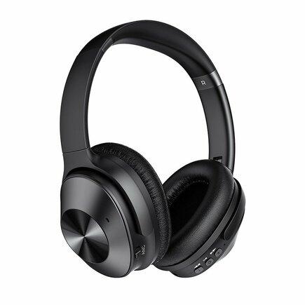 Remax bezdrátová sluchátka Bluetooth 5.0 EDR s mikrofonem černá (RB-600HB)