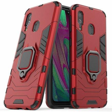 Ring Armor pancéřové hybridní pouzdro + magnetický úchyt Samsung Galaxy A40 červené