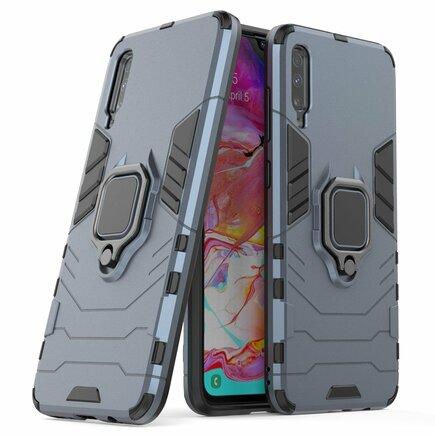 Ring Armor pancéřové hybridní pouzdro + magnetický úchyt Samsung Galaxy A70 modré