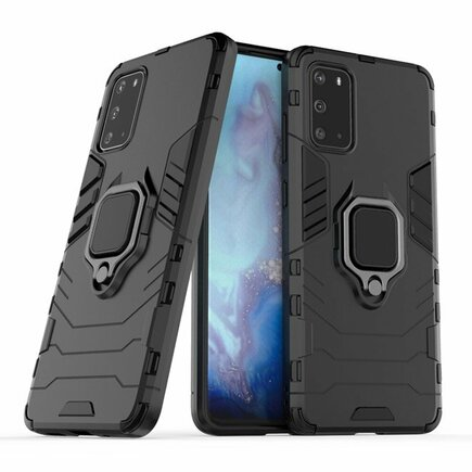 Ring Armor pancéřové hybridní pouzdro + magnetický podstavec Samsung Galaxy S20 černé