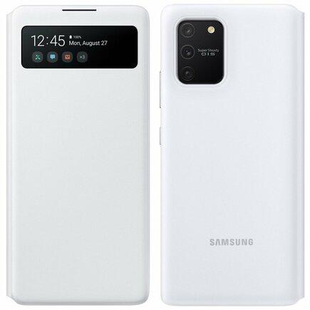 S View Wallet pouzdro bookcase s inteligentní klapkou Samsung Galaxy S10 Lite bílé (EF-EG770PWEGEU)