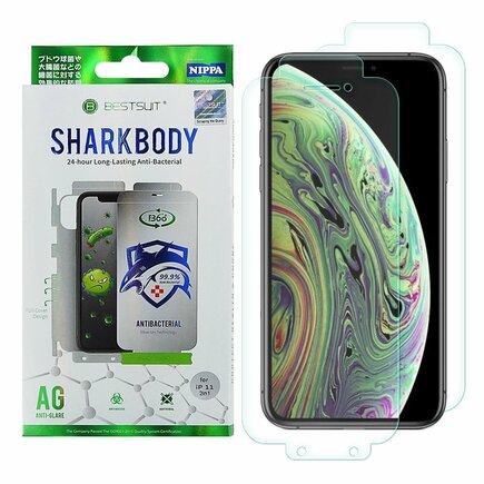 Shark Full Body Film anti bakteriální samoregenerační ochranná fólie na celý telefon (přední i zadní část) iPhone XS / iPhone X