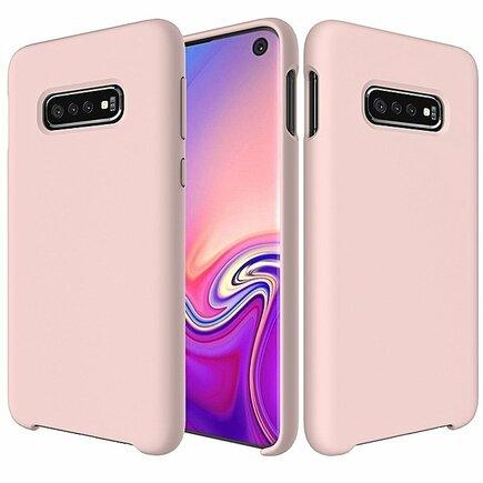 Silicone Case elastické silikonové pouzdro Samsung Galaxy S10 růžové