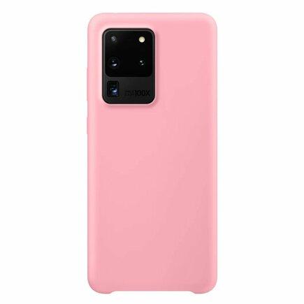 Silicone Case elastické silikonové pouzdro Samsung Galaxy S20 Ultra růžové