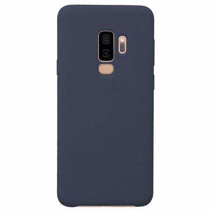Silicone Case elastické silikonové pouzdro Samsung Galaxy S9 Plus G965 tmavě modré