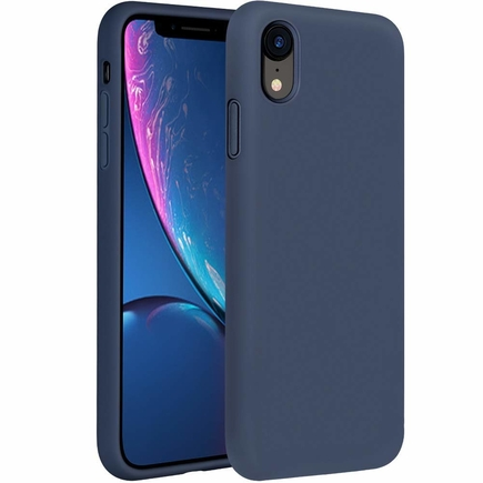 Silicone Case elastické silikonové pouzdro iPhone XR tmavě modré