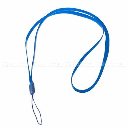 Silikonový řemínek pro telefon na ruku nebo krk 33,5cm tmavě modrý