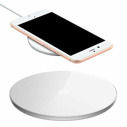 Simple stylová bezdrátová nabíječka Qi 2A 1.67A 10W bílá (CCALL-JK02)