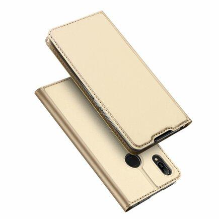 Skin Pro pouzdro s klapkou Huawei Y6 2019 / Honor 8A Pro zlaté