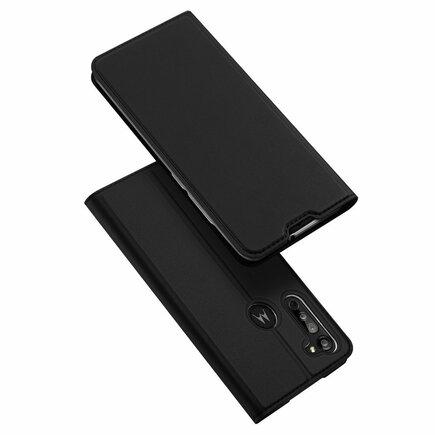 Skin Pro pouzdro s klapkou Motorola Moto G8 černé