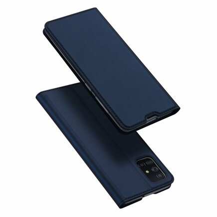 Skin Pro pouzdro s klapkou Samsung Galaxy A71 modré