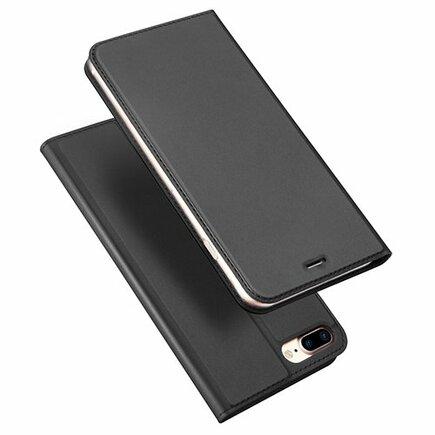 Skin Pro pouzdro s klapkou iPhone 8 Plus / 7 Plus šedé