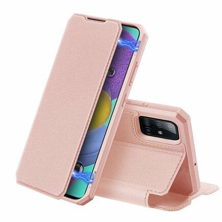 Skin X pouzdro s klapkou Samsung Galaxy A51 růžové