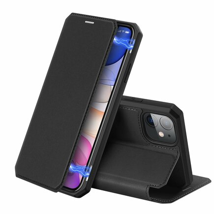 Skin X pouzdro s klapkou iPhone 11 černé