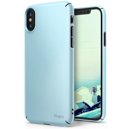 Slim ultratenké pouzdro iPhone X modré (SLAP0028-RPKG)