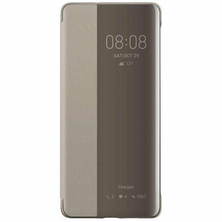 Smart View Flip Cover pouzdro s klapkou typu Smart Huawei P30 Pro hnědé (51992886)
