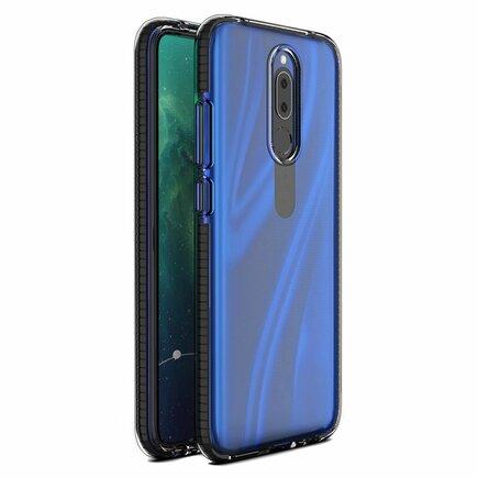 Spring Case gelové pouzdro s barevným rámem Huawei Mate 20 Lite černé