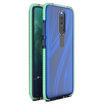 Spring Case gelové pouzdro s barevným rámem Huawei Mate 20 Lite mátově zelené