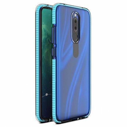 Spring Case gelové pouzdro s barevným rámem Huawei Mate 20 Lite světle modré