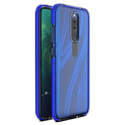 Spring Case gelové pouzdro s barevným rámem Huawei Mate 20 Lite tmavě modré