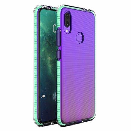 Spring Case gelové pouzdro s barevným rámem Huawei P Smart 2019 mátově zelené